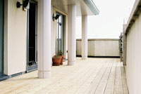 roof terrace decking design