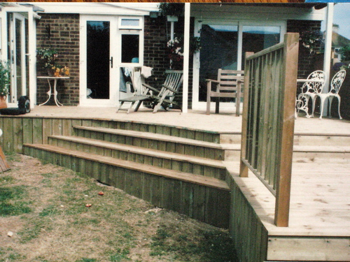 Garden and patio decking gallery decking design a for Garden decking companies